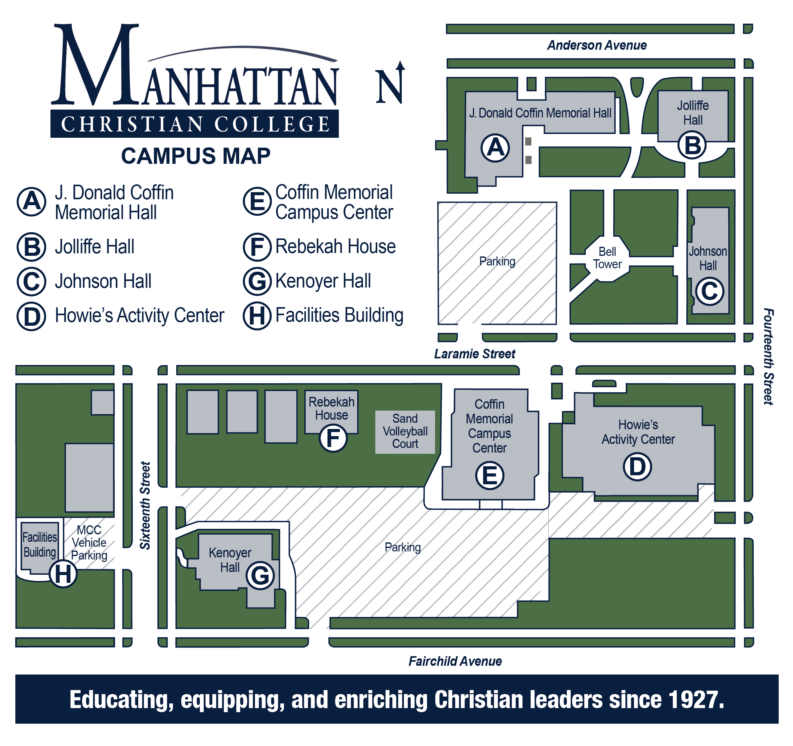 Manhattan College Campus Map Map of Manhattan Christian College's Campus | Manhattan, Kansas
