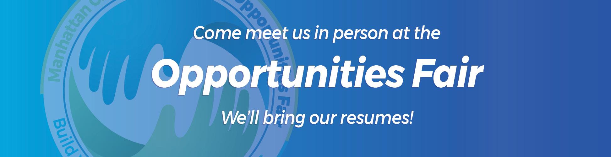 Opportunities Fair small banner