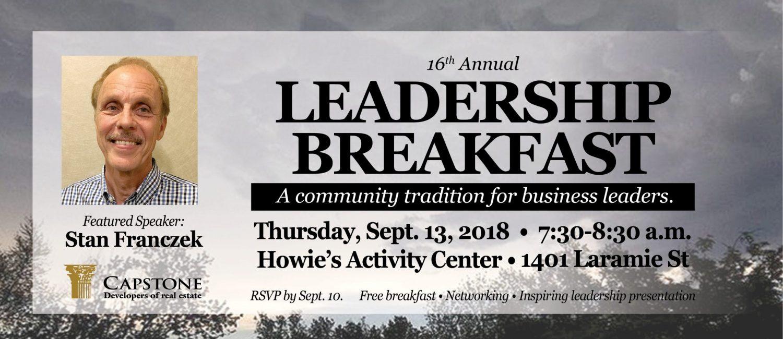 Leadership Breakfast 2018 Large Banner Image