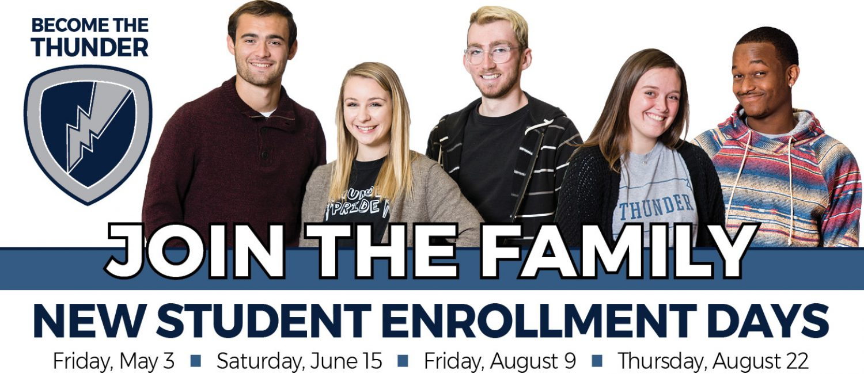 New Student Enrollment Days large banner image