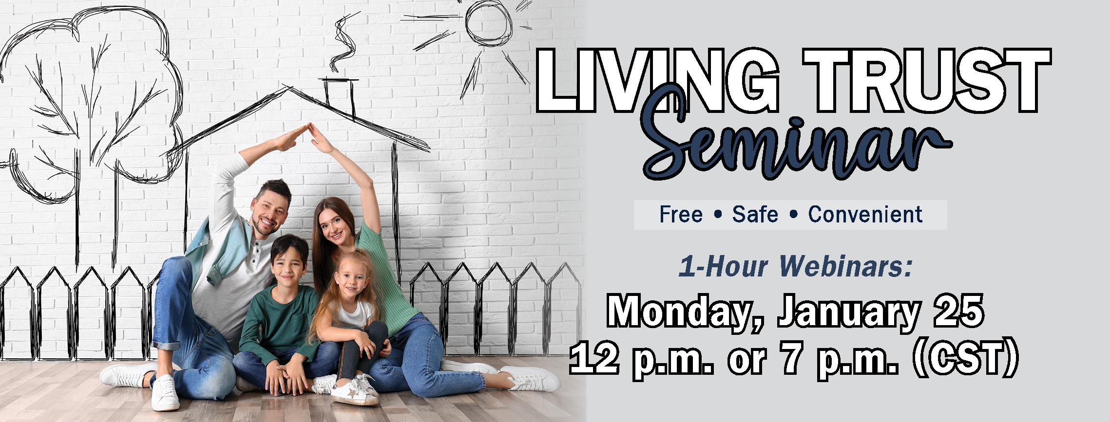 Spring 2021 Living Trust Seminar Banner