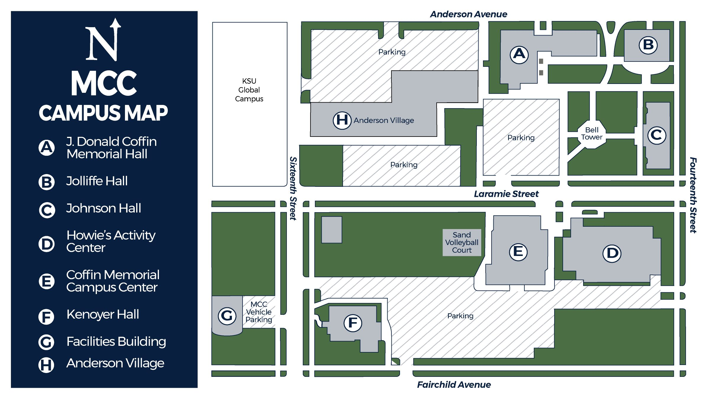 Manhattan Christian College Campus Map 2021